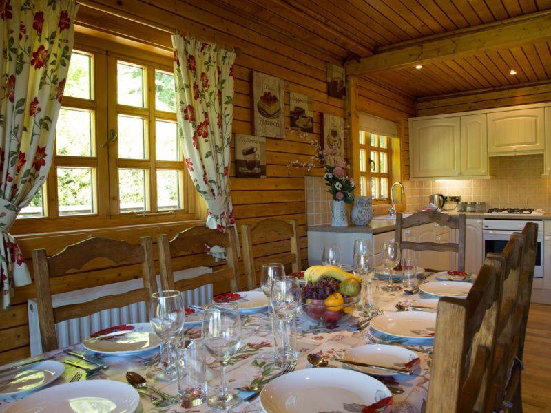 Ash Log Cabin dining room