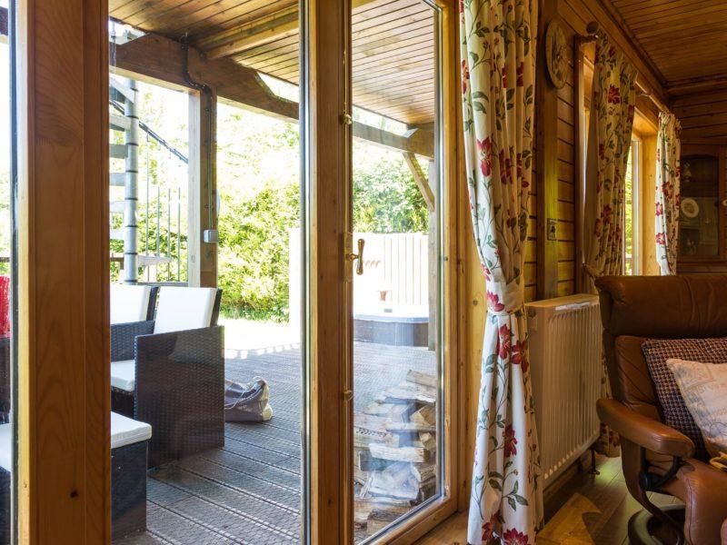 Ash Log Cabin French doors