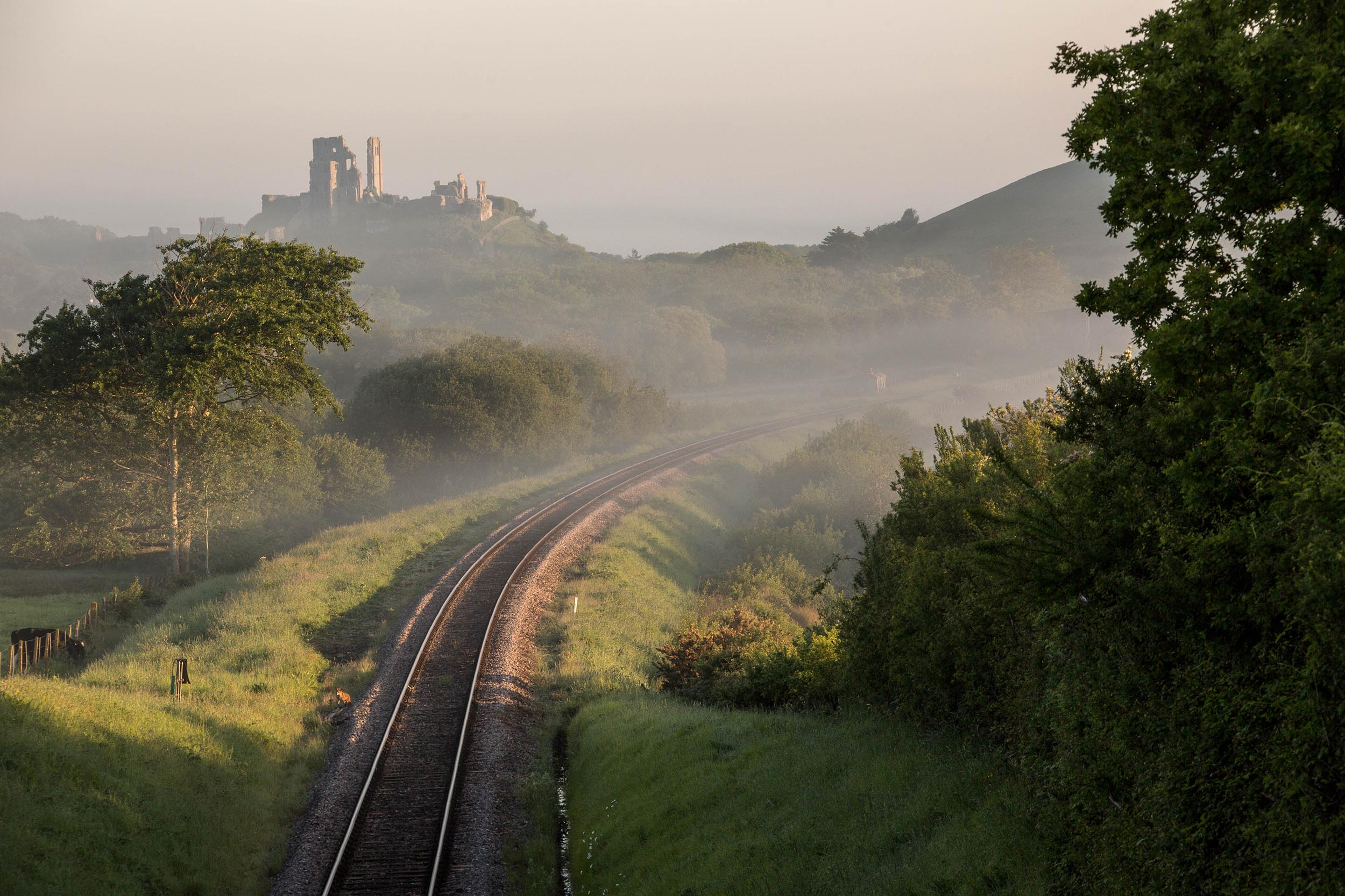 Swanage Railway view to Corfe Castle